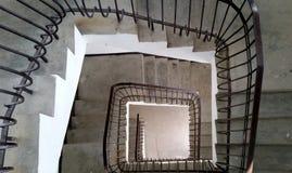 Ładna spirala od starego schody fotografia royalty free