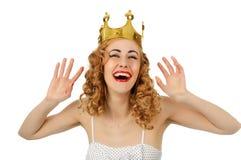 Ładna szczęśliwa królowa Fotografia Stock