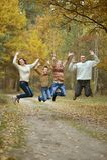 Ładna szczęśliwa rodzina Zdjęcie Royalty Free