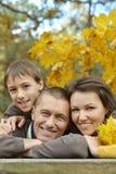 Ładna szczęśliwa rodzina Obrazy Royalty Free