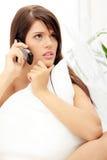 ładna telefon kobieta obraz royalty free