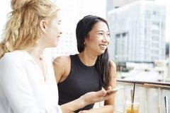 ?adne kobiety w kawiarni zdjęcie stock