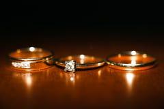 Ładne obrączki ślubne Zdjęcia Royalty Free