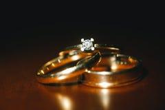 Ładne obrączki ślubne Obraz Royalty Free