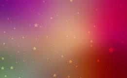Ładne złoto gwiazdy na kolorowym tle w zmierzchów kolorach różowy purpurowy czerwony kolor żółty i pomarańcze Zdjęcia Royalty Free