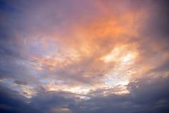 Ładnego koloru chmurny niebo zdjęcia royalty free