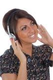 ładni brunetka hełmofony Fotografia Stock