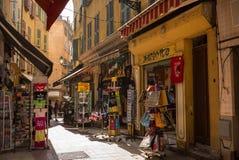 Ładni Francja sceny Uliczni sklepy Obraz Stock