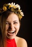 ładni uśmiechu kobiety wianku potomstwa Zdjęcie Royalty Free