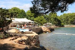 Ładni widoki Ibiza święty Antoni Zdjęcie Royalty Free