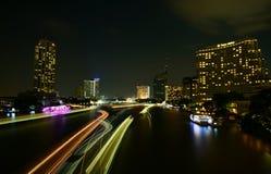 Ładny łódź transportu oświetlenie Obrazy Royalty Free