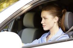 Ładny żeński kierowca Obrazy Royalty Free