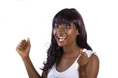 Ładny afrykański dziewczyna doping fotografia royalty free