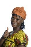 Ładny afrykański kobieta kciuk up obrazy stock