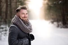 Ładny biały zima spacer Zdjęcia Royalty Free