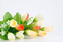 Ładny bukiet kwitnie dla domowej dekoraci, Sztucznie obraz royalty free