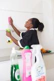 Ładny dom robić wyciera kuchennego meble Zdjęcie Stock