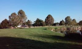 Ładny dzień przy parkiem Fotografia Royalty Free