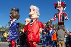 ŁADNY, FRANCJA, LUTY - 22: Karnawał Ładny w Francuskim Riviera Temat dla 2015 był królewiątkiem muzyka Ładny, Francja, Feb - 22,  Fotografia Stock