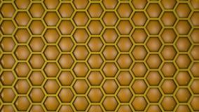 Ładny honeycomb 3d odpłaca się tło ilustrację Zdjęcie Royalty Free