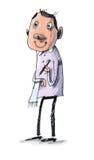 Ładny kelner royalty ilustracja