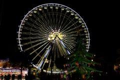 Ładny koło przy nocą obraz royalty free