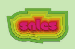 Ładny kolorowy sprzedaży 3d wektor Obrazy Stock