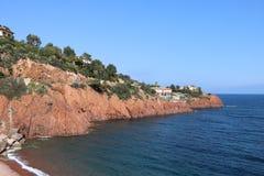"""Ładny krajobraz na """"blue coast† w Francja Zdjęcie Stock"""