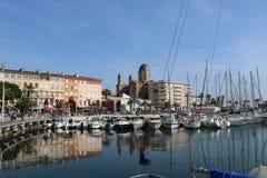 """Ładny krajobraz na """"blue coast† w Frejus świętym Raphaele Francja, Frejus, świętego Raphael Obraz Stock"""