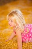 Dziecko w spadku żniwa kukurudzy Obraz Royalty Free