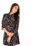 Ładny młody łaciński dziewczyny pozować Zdjęcie Royalty Free