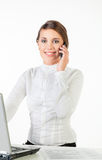 Ładny młody bizneswoman fotografia royalty free