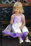ładny mały dziewczyna lizak Obraz Stock