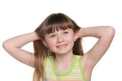 ładny mały dziewczyna portret obraz royalty free