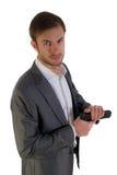 Ochroniarz z bronią zdjęcia stock