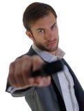 Ochroniarz z bronią obrazy stock