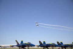 Ładny pokaz lotniczy Fotografia Stock