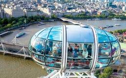 Ładny powietrzny Londyński pejzaż miejski z Charing krzyża stacją Fotografia Stock
