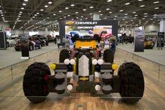 Ładny samochód był budową z Lego w Dallas Auto przedstawieniu obraz royalty free