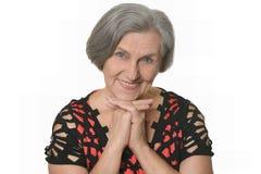 Ładny starszy kobiety pozować Obraz Royalty Free