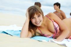 ładny sunbather zdjęcie royalty free