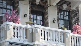 Ładny Szanghaj stree widok podczas długich wakacji w Szanghaj na Oct zdjęcia stock