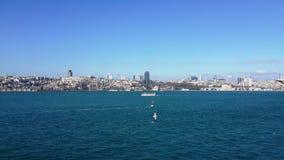ładny widok Istanbuł, Bosphorus, morze Zdjęcia Royalty Free