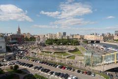 Ładny widok teren Europa przy Kijowską stacją kolejową Obraz Stock