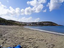 ładny widok zatoka z błękitnym oceanem zdjęcia royalty free