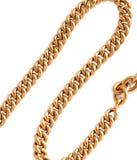 Ładny złoto łańcuch odizolowywający obraz stock