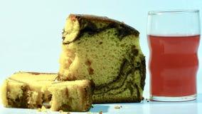 Ładny zakończenie w górę widoku miękka część Dobry marmurowy obruszenie tort zdjęcia royalty free