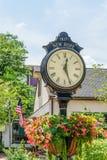 Ładny zegar w Historycznej Nowej nadziei, PA zdjęcie stock