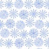 Ładny zima płatka śniegu set wektor bezszwowy wzoru Obraz Stock