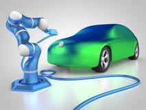 ładować elektryczny pojazd ilustracja wektor